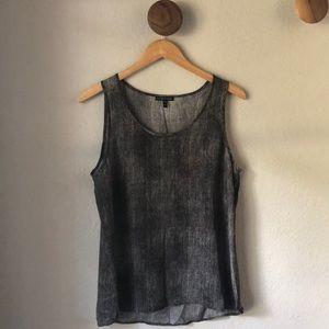 Eileen Fisher 100% silk shell